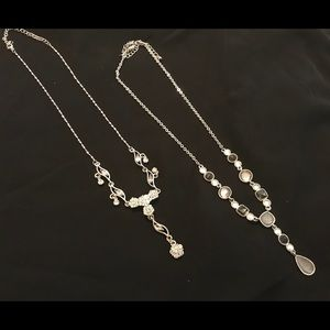 Jewelry - Two silver Y necklaces
